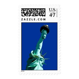 Statue of Liberty Blue Sky New York City Postage