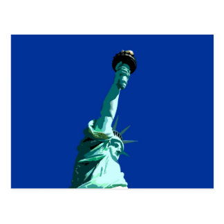 Statue of Liberty & Blue Sky Postcard