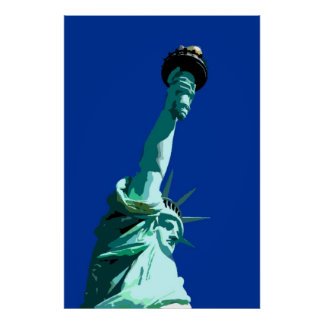 Statue of Liberty & Blue Sky Poster