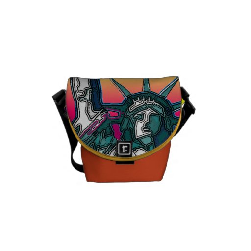 Statue of Liberty - Bright Background Messenger Bag