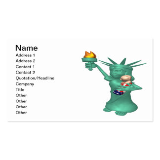 Statue Of Liberty Double-Sided Standard Business Cards (Pack Of 100)