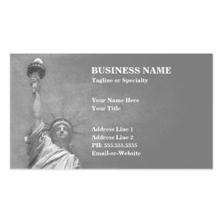 statue of liberty business card templates