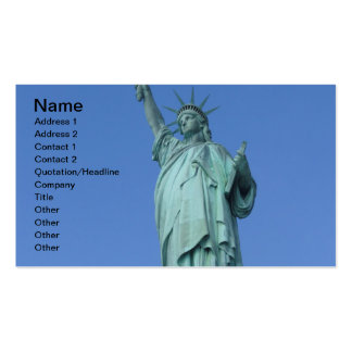 Statue of Liberty Business Card Template