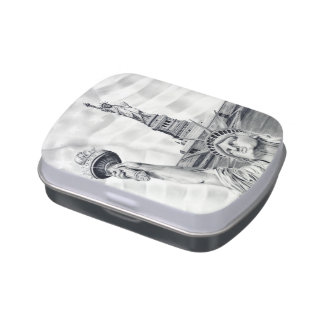 Statue of Liberty Candy Tin/Jar Jelly Belly Candy Tins