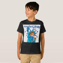 Statue of liberty cat - orange cat - pizza cat T-Shirt