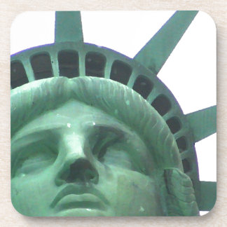 Statue of Liberty Close Up Beverage Coasters