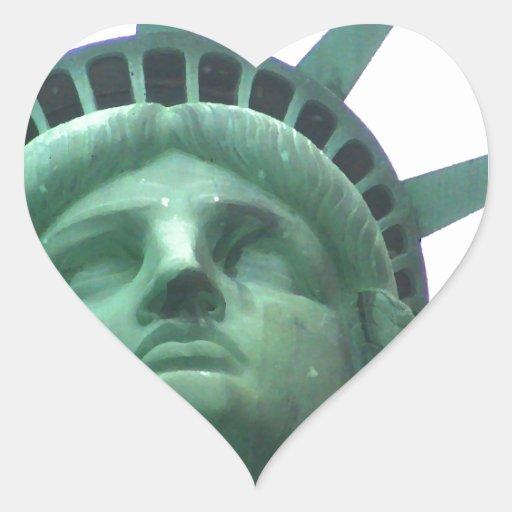 Statue of Liberty Close Up Heart Sticker