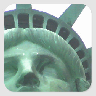 Statue of Liberty Close Up Square Sticker
