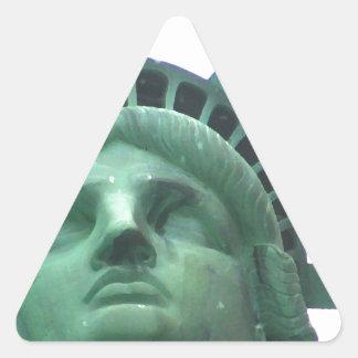 Statue of Liberty Close Up Triangle Sticker