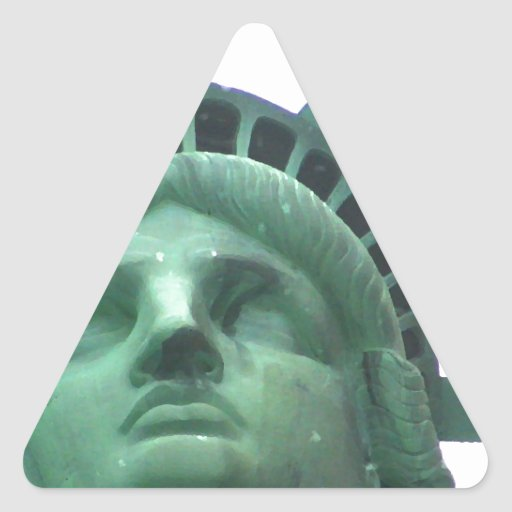 Statue of Liberty Close Up Triangle Sticker