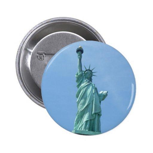 Statue of Liberty - Closeup Button