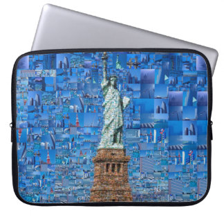 statue of liberty collage - statue of liberty art computer sleeve