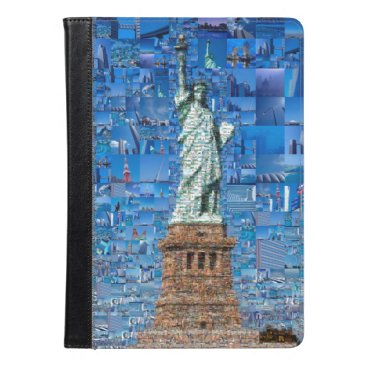 statue of liberty collage - statue of liberty art iPad air case