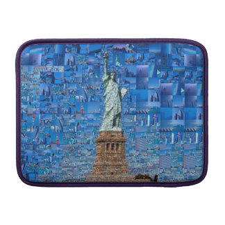 statue of liberty collage - statue of liberty art MacBook sleeve