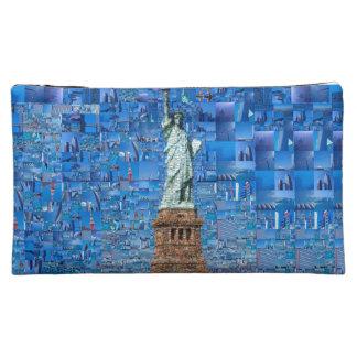 statue of liberty collage - statue of liberty art makeup bag