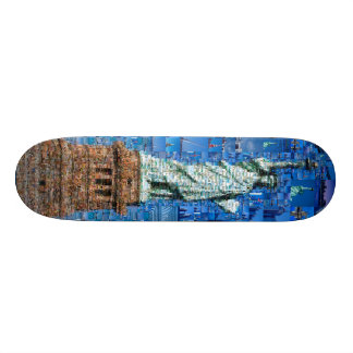 statue of liberty collage - statue of liberty art skateboard deck