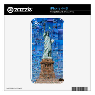 statue of liberty collage - statue of liberty art skins for iPhone 4