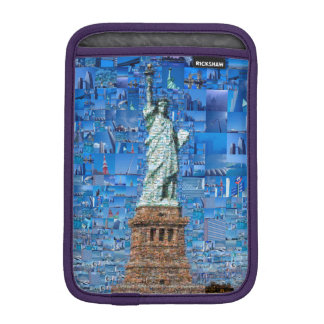 statue of liberty collage - statue of liberty art sleeve for iPad mini