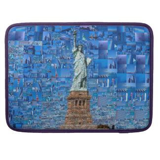 statue of liberty collage - statue of liberty art sleeve for MacBook pro