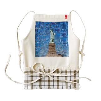 statue of liberty collage - statue of liberty art zazzle HEART apron