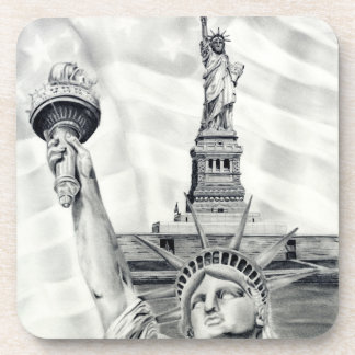 Statue of Liberty Cork Coaster