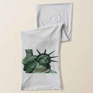 Statue of Liberty Crying - Budget Crisis Scarf