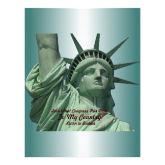 Statue of Liberty Crying Flyer