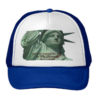 Statue of Liberty Crying Trucker Hats