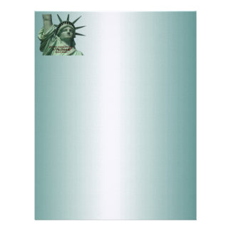 Statue of Liberty Crying Letterhead