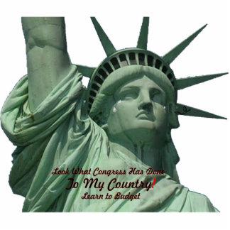 Statue of Liberty Crying Photo Cutout