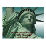 Statue of Liberty Crying Post Card