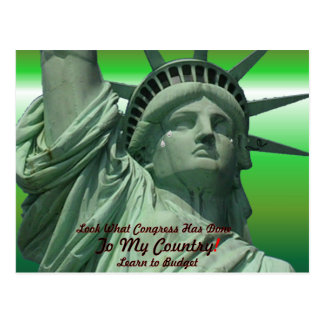 Statue of Liberty Crying Postcard