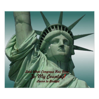 Statue of Liberty Crying Poster