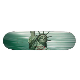 Statue of Liberty Crying Skateboard Deck