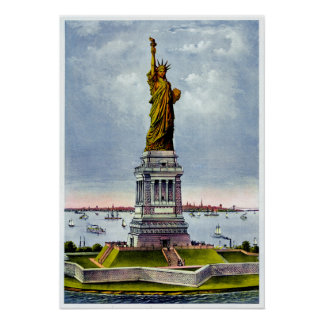 STATUE OF LIBERTY (Currier & Ives) ~ Poster