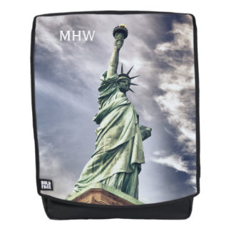 Statue of Liberty custom monogram backpack