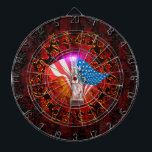 "Statue of Liberty Dartboard<br><div class=""desc"">The Statue of Liberty with decorative floral elments  america,  american,  blue,  characters,  countries,  country,  democracy,  Emblem,  Flag,  freedom,  government,  independence,  july,  nation,  national,  patriot,  patriotic,  patriotism,  Red,  star,  stripe,  symbol,  united,  &quot;united states&quot;,  Usa,  white</div>"