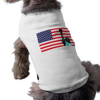 Statue of Liberty Dog Jacket Shirt