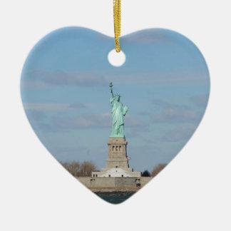 Statue Of Liberty Ellis Island Ceramic Ornament