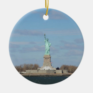 Statue Of Liberty Ellis Island Ceramic Ornament