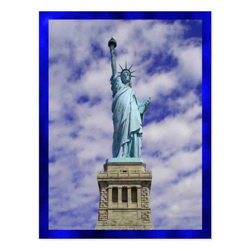 Statue of Liberty, Ellis Island, New York Post Card
