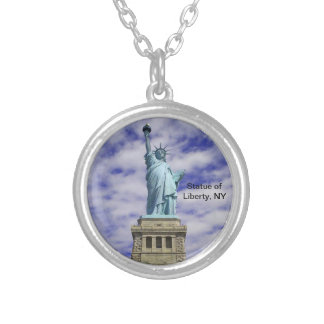 Statue of Liberty, Ellis Island, New York Silver Plated Necklace
