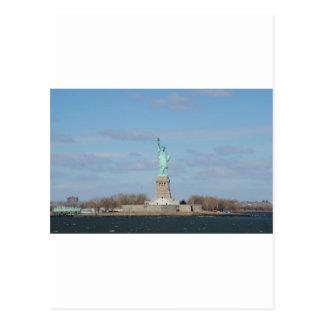 Statue Of Liberty Ellis Island Postcard