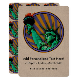 Statue of Liberty Emblem Design Card