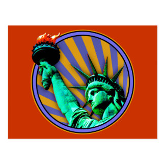 Statue of Liberty Emblem Design Postcard