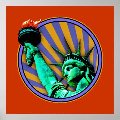 Statue of Liberty Emblem Design Poster