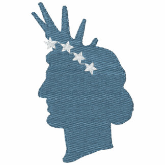Statue Of Liberty Face With Crown Of Stars Embroidered Jacket