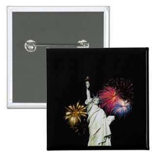 Statue of Liberty - Fireworks Background Pins