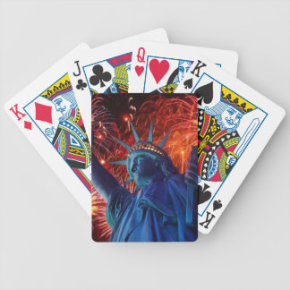 Statue Of Liberty Fireworks Playing Cards