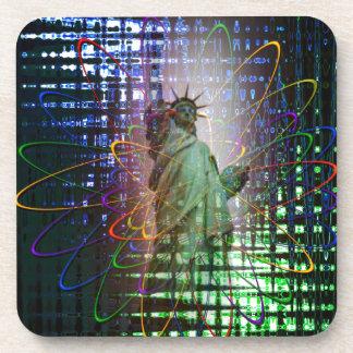 Statue of Liberty  Freiheitsstatue New York 4 Beverage Coaster
